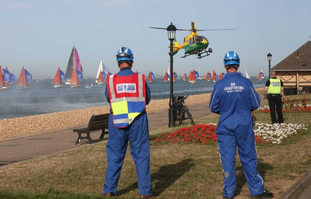 air ambulance called after woman pulled from water in cowes