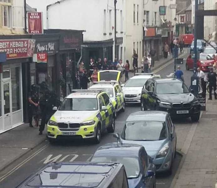 armed police lock down ramsgate street after man spotted with gun