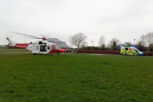 coastguard rescue helicopter scrambled to st marys hospital