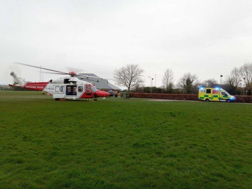 Coastguard Rescue Helicopter Scrambled To St Mary's Hospital