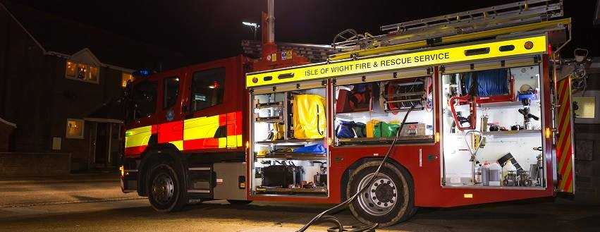 cowes couple lucky escape after refrigerator fire