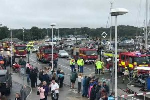 emergency services called to wightlink wightsky in yarmouth