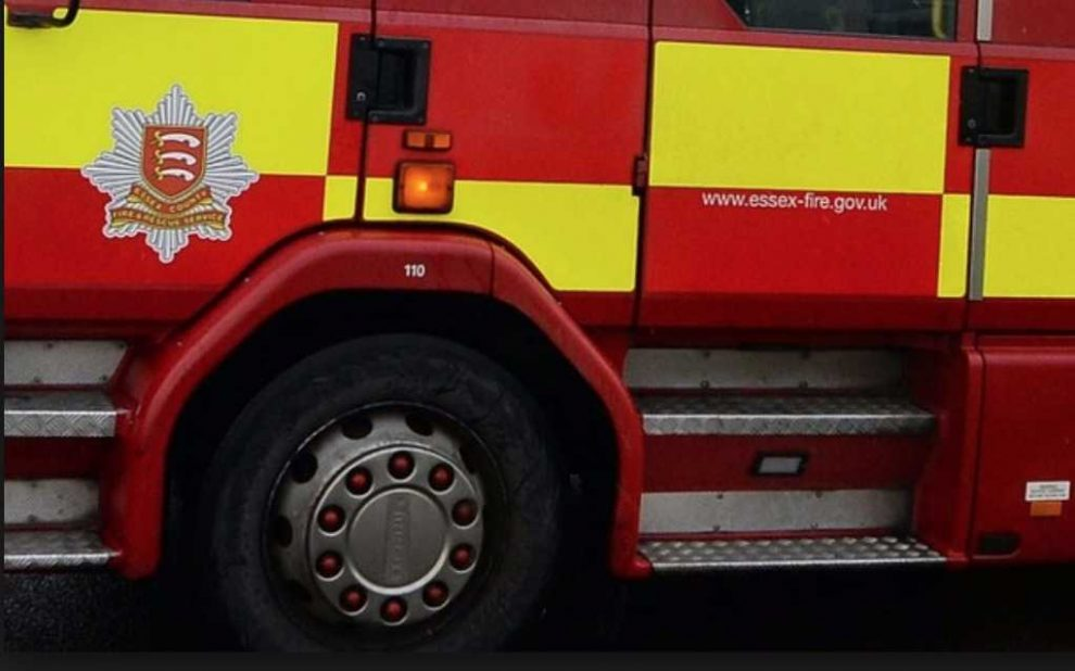 essex fire appliance overturns on route to field fire in suffolk leaving three injured