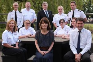fire service and police work together to share safety messages in schools
