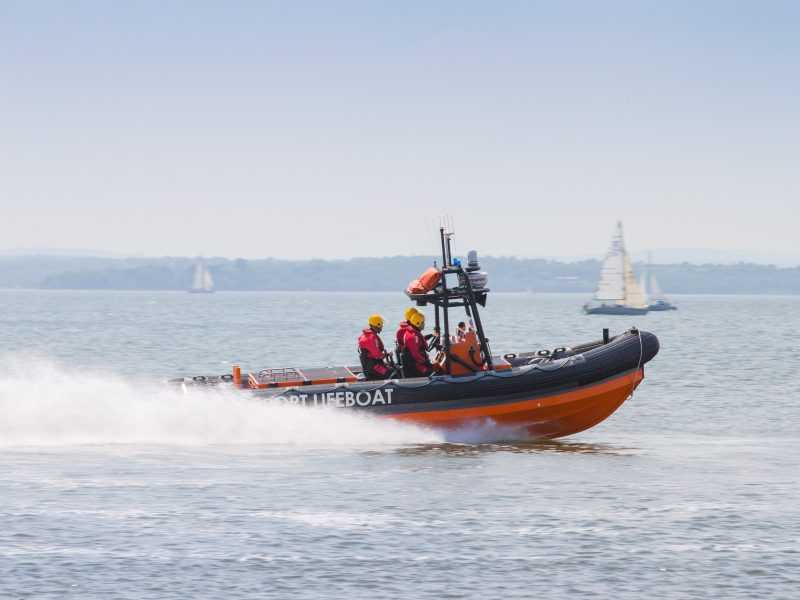 gosport lifeboat scrambled to family in up turned speedboat in portsmouth