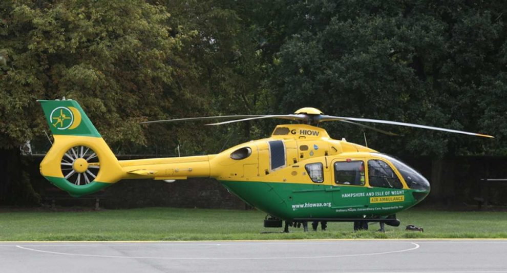 hampshire school placed on lockdown over air ambulance