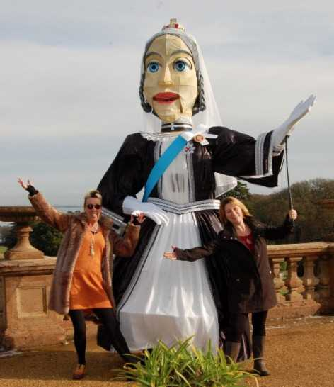 help create a processional street party for queen victoria