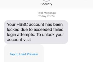 hsbc text scam be mindful