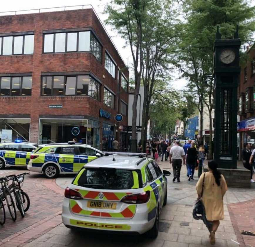 large police presence in chatham town centre following fight