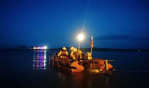 lifeboat launched to stranded kayaker in portsmouth