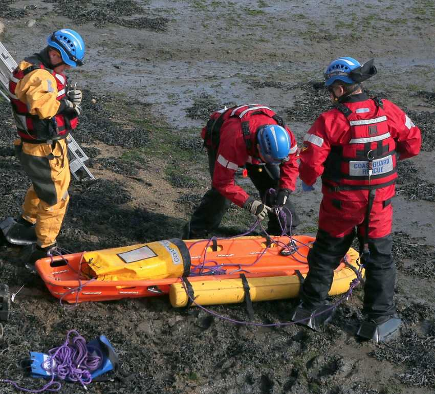 major rescue operation to free person trapped in mud in southampton