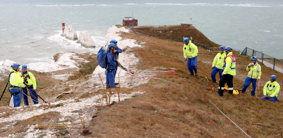 major search after smash boat wreckage washes up on the needles