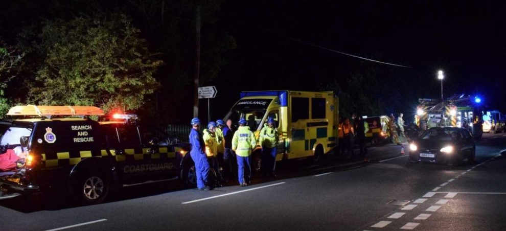 multi agency search on cycle track in west wight proved false alarm