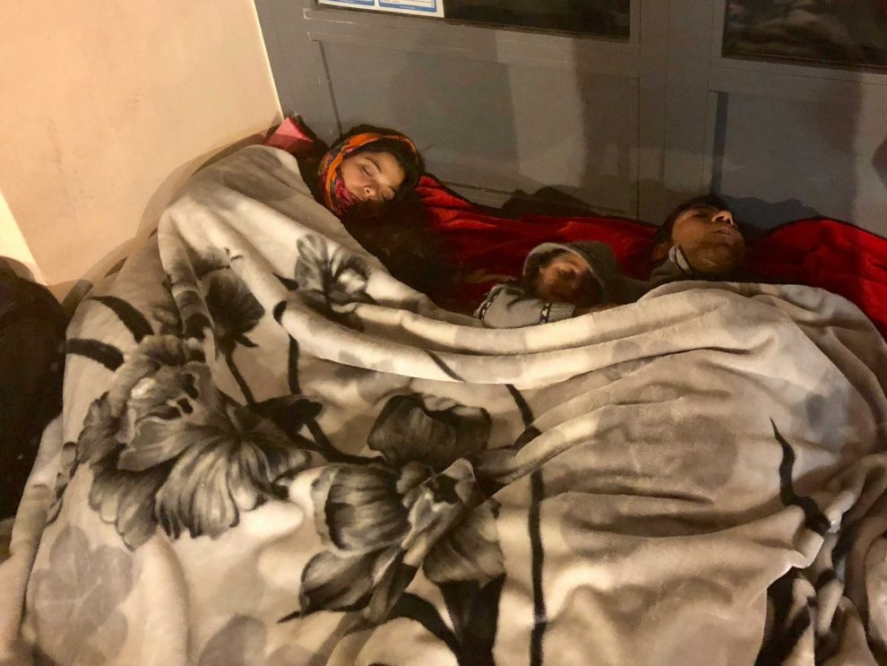 newborn baby and family left to rough it streets away from eu commission