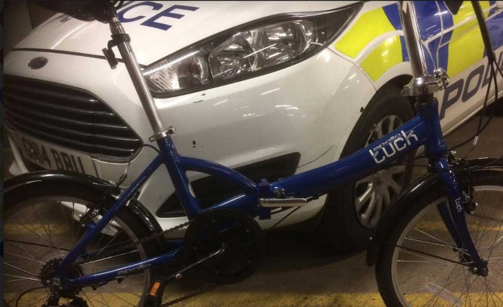 pcsos recover suspected stolen cycle in maidstone