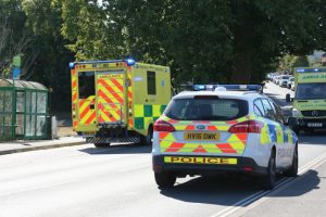 police close wootton bridge following serious collision involving pensioner