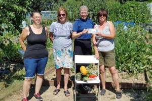 police donation to benefit tonbridge community allotment