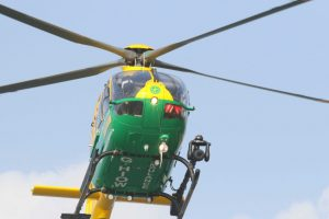 sick islander airlifted by helicopter to qa hospital