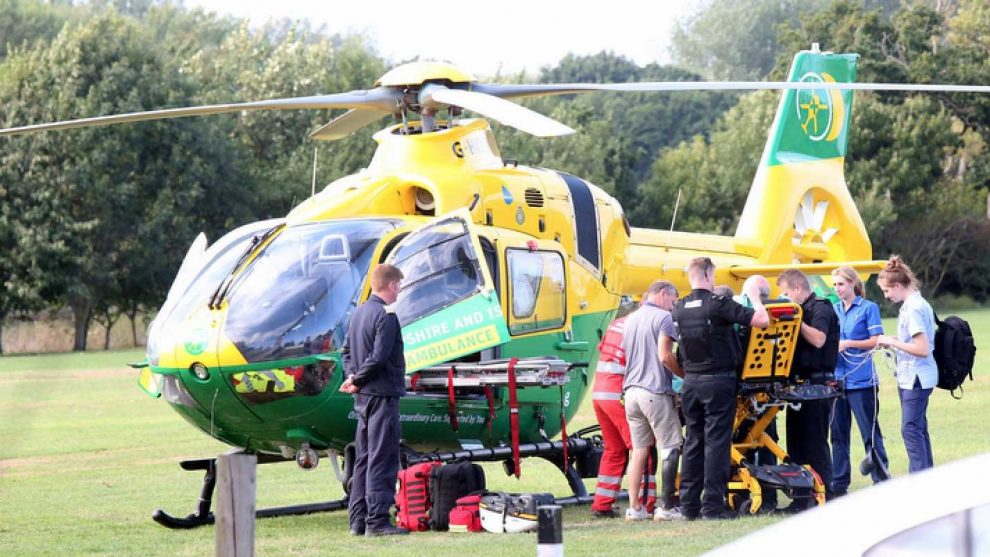 sick patient airlifted from sea close to southampton general