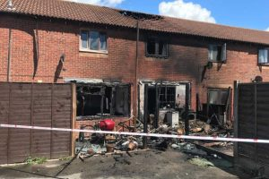thirty firefighters tackle terrace house fire in portsmouth