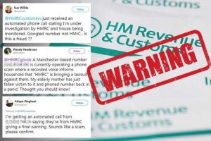 warning regarding telephone calls and messages from fraudsters