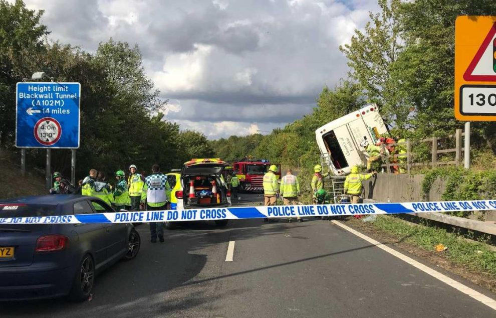 Witnesses Sought For Overturned Coach On M25