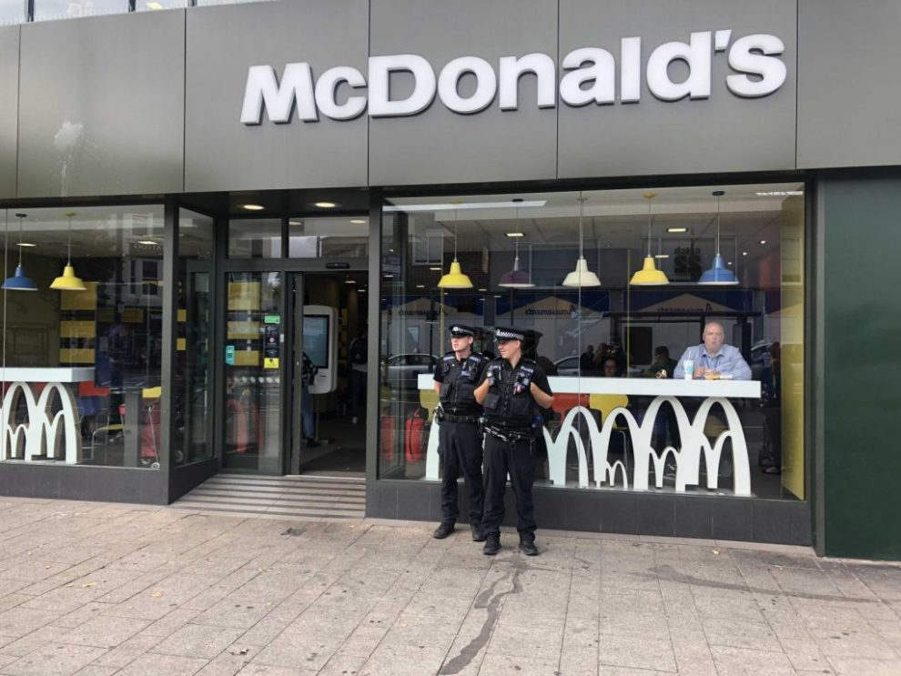 Portsmouth Mcdonalds On Lock Down As Emergency Service Called