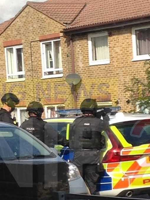 man detained by armed officers in gravesend