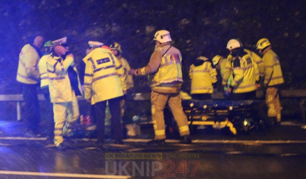 child rushed to hospital and one arrested following m25 collision