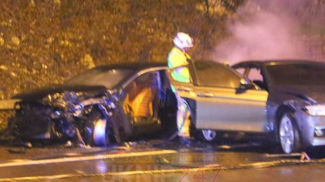 M25 Closed Following Two Vehicle Collision And Fire