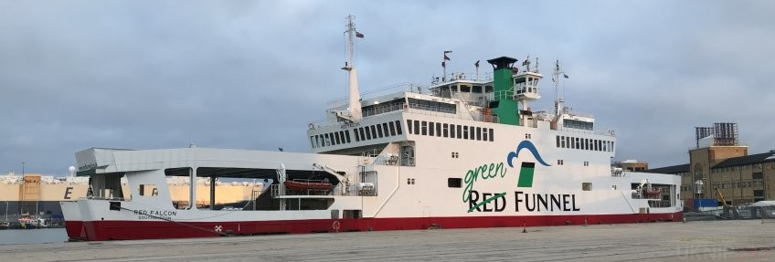 delays on red funnel due to adverse weather