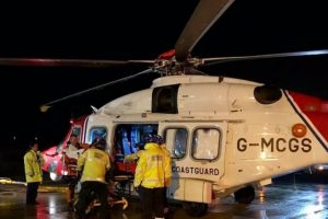 double medical evacuation from the isle of wight by helicopter