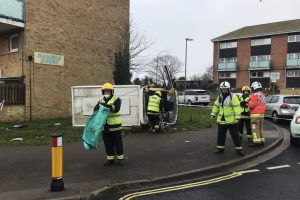 driver escapes serious injury after vehicle flips in fareham