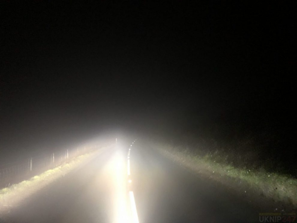 driver gets caught out by the weather on the downs in brading