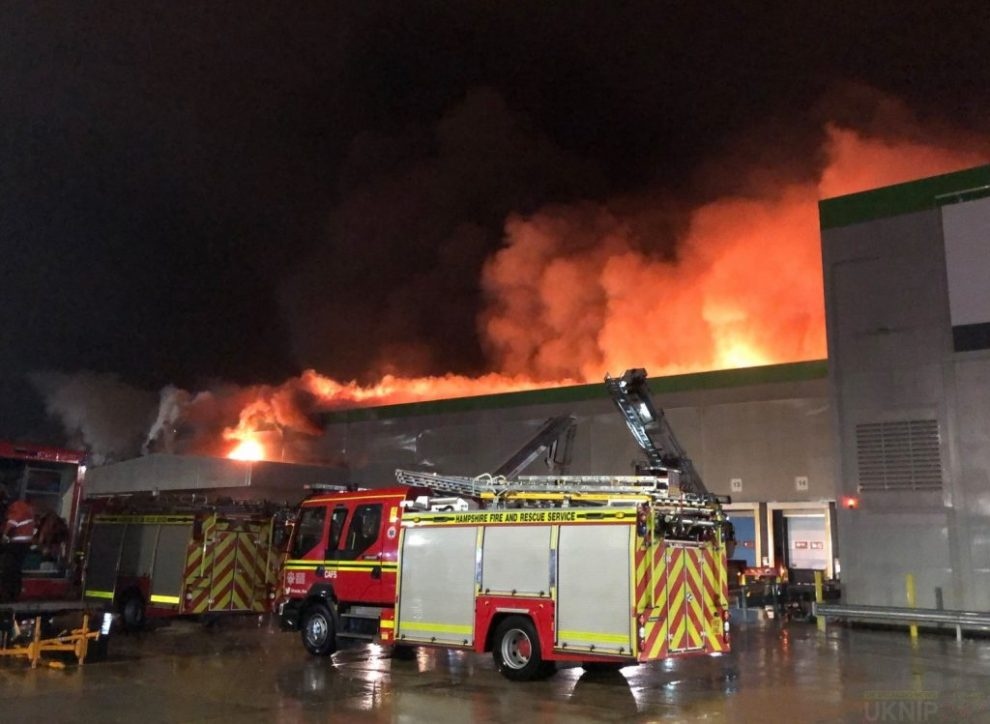 120 Firefighters Tackle Andover Warehouse Blaze