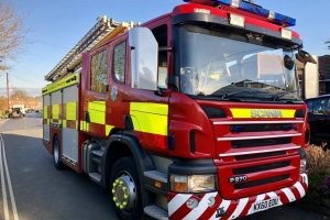 fire crews called to brading crash