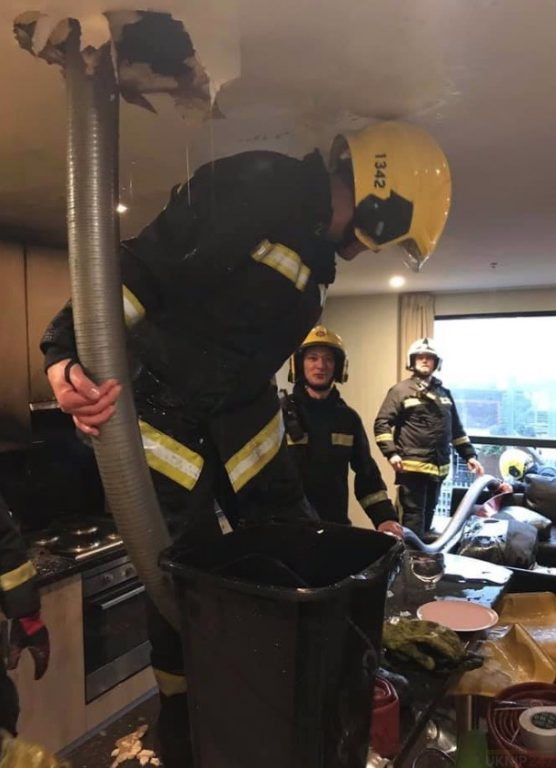 fire crews called to highrise blaze in portsmouth