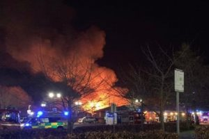 major fire breaks out at robert peel hospital in tamworth