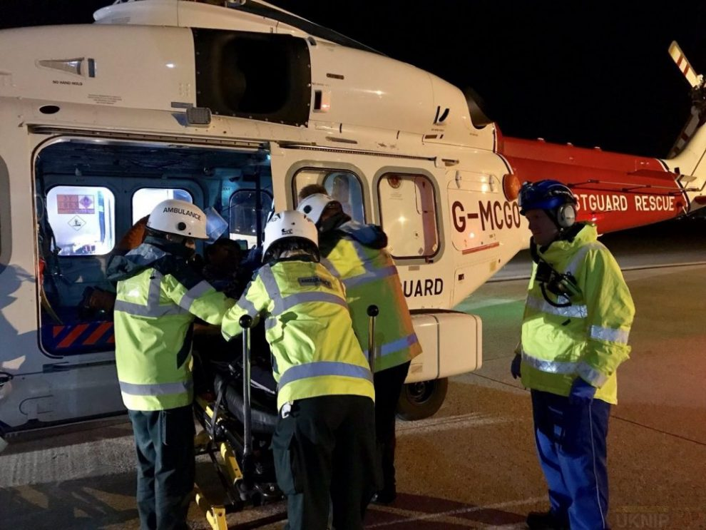 Man Airlifted  Following Emergency Onboard Oil Tanker In The English Channel