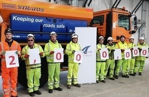 motorway staff celebrate two million hours accident free