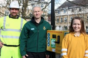 new life saving kit installed thanks to local schoolgirl