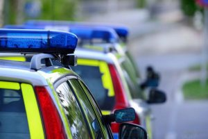 police lock down road in cowes following incident
