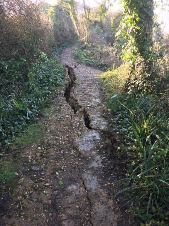 totland footpath closed due to safety issues