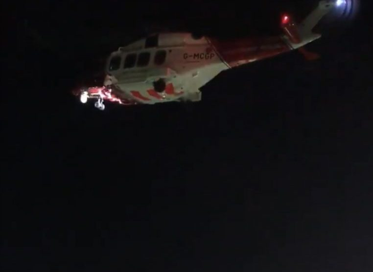 updatedcoastguard helicopter scambled with coastguard search team