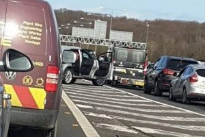 air ambulance lands at m25 collision