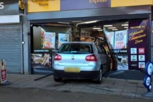 car ploughs through fareham shop front