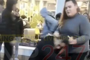 disturbing video showing teen smashing girls head on mcdonalds table