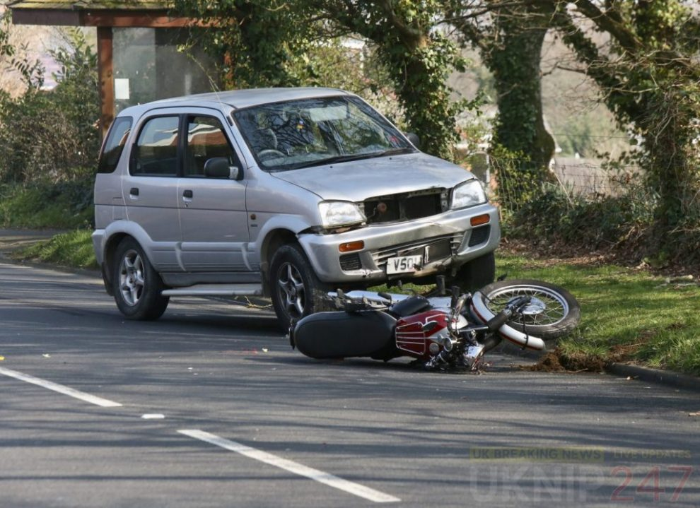 emergency services called to collision involving motorcyclist