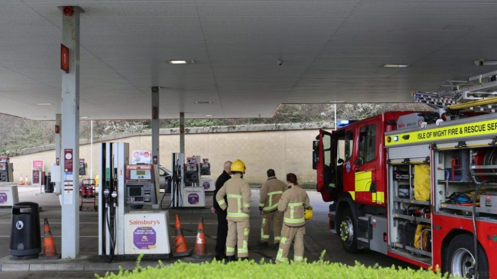 fire crew called to sainsburys in newport