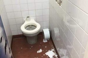 mindless vandalism of ryde toilet block